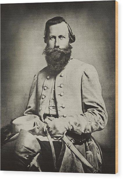 Confederate Jeb Stuart Wood Print