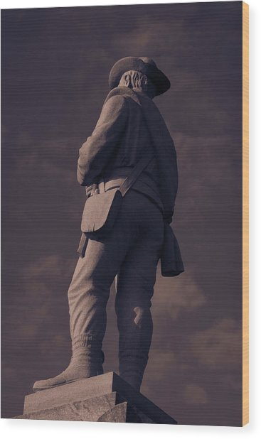 Confederate Statue Wood Print