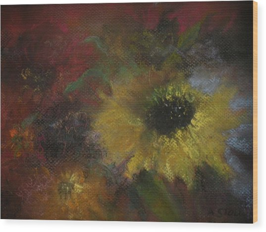 Confetti Wood Print by Anita Stoll