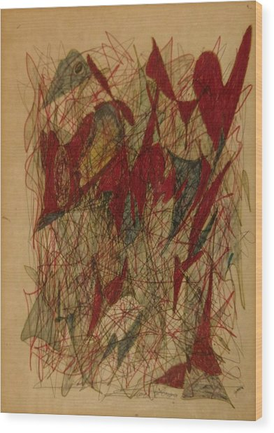 Conglomerate Synthesis  Wood Print