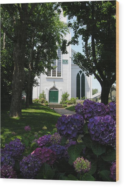 Congregational Church Nantucket Wood Print