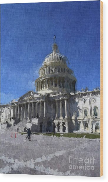 Congress, Washingto Dc Wood Print