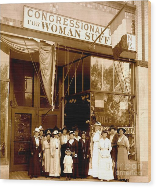 Congressional Union For Woman Suffrage Colorado Headquarters 1914 Wood Print