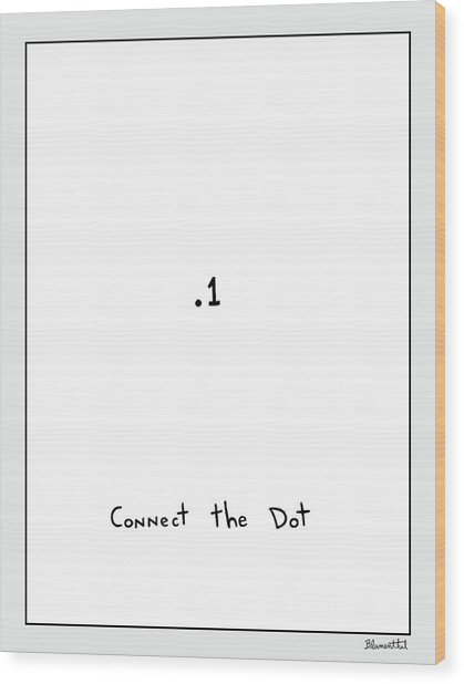 Connect The Dot Wood Print