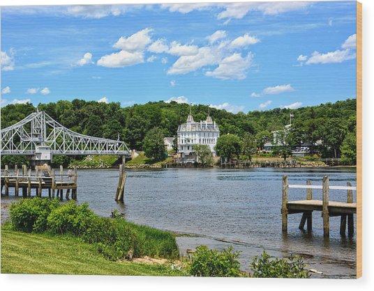 Connecticut River - Swing Bridge - Goodspeed Opera House Wood Print