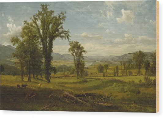 Connecticut River Valley, Claremont, New Hampshire Wood Print
