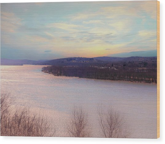 Connecticut River View From Gillette Castle. Wood Print