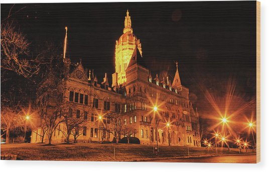 Connecticut State Capitol Wood Print
