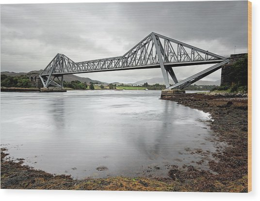 Connel Bridge Wood Print