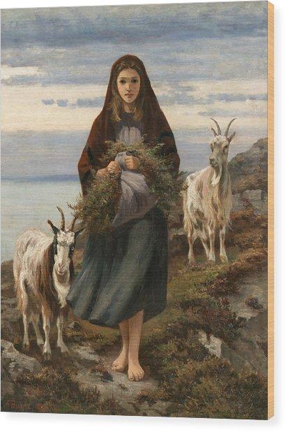 Connemara Girl Wood Print