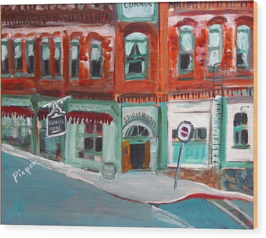Connor Hotel In Jerome Wood Print
