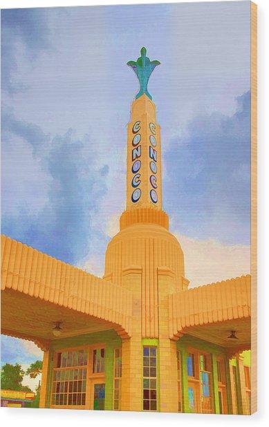 Conoco Tower Wood Print