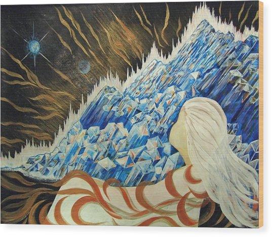 Conscious Dream Wood Print by Pam Ellis
