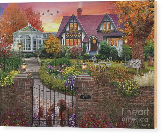 Conservatory House  Wood Print
