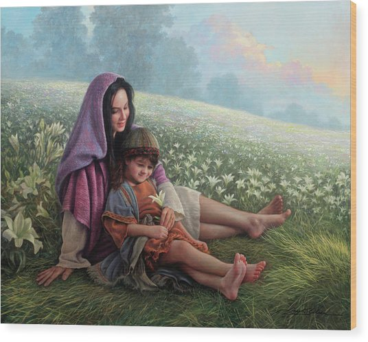 Wood Print featuring the painting Consider The Lilies by Greg Olsen
