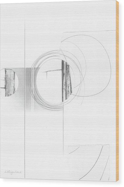 Construction No. 4 Wood Print