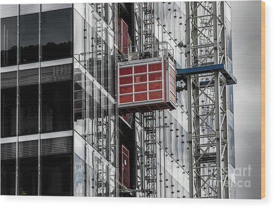 Construction Season Begins - Skyscraper - Utah Wood Print