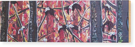 Consumer Forest Fire Wood Print by Alicia  LaRue