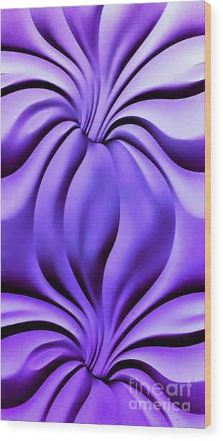 Contemplation In Purple Wood Print