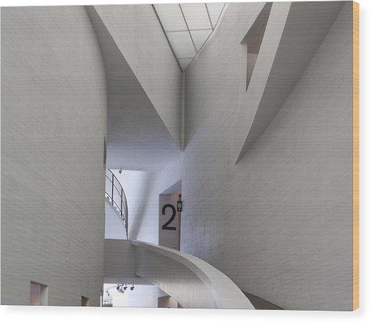 Contemporary Art Museum Interior Wood Print