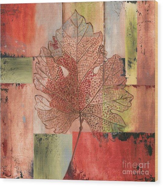 Contemporary Grape Leaf Wood Print