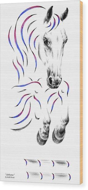Contemporary Jumper Horse Wood Print