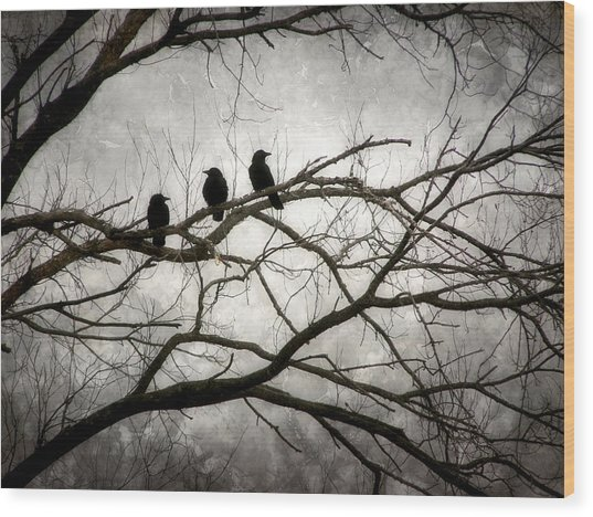 Contrive - By The Light Of The Moon Wood Print