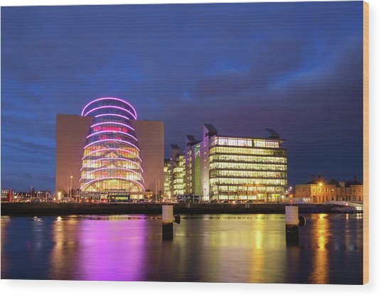 Convention Centre Dublin And Pwc Building In Dublin, Ireland Wood Print