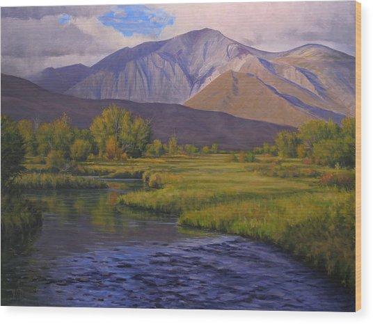 Convict Creek-eastern Sierras Wood Print by Joe Mancuso
