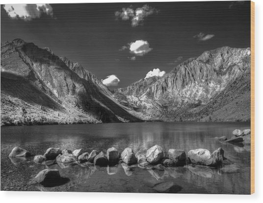 Convict Lake Near Mammoth Lakes California Wood Print