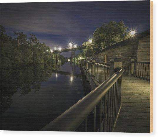 Conway Riverwalk Morning Wood Print