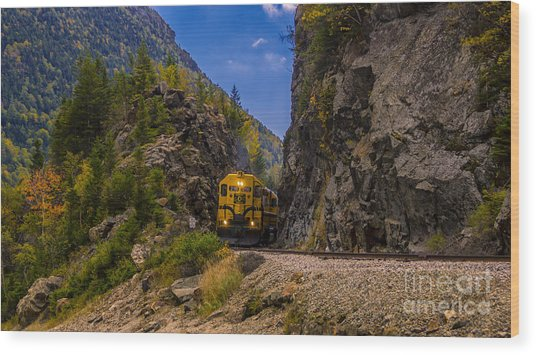Conway Scenic Railroad Notch Train. Wood Print