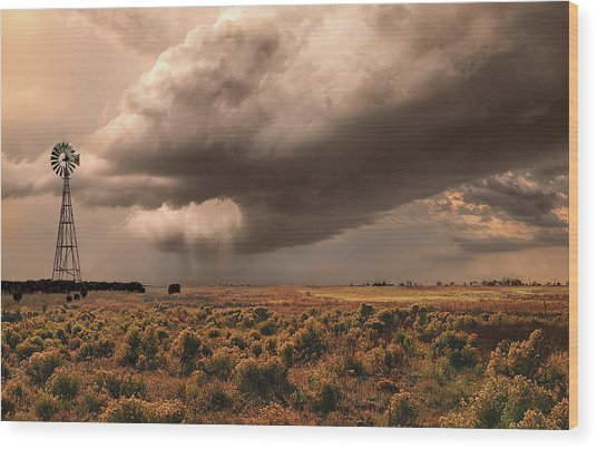 Conway Storm Front Wood Print