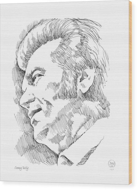 Conway Twitty Wood Print