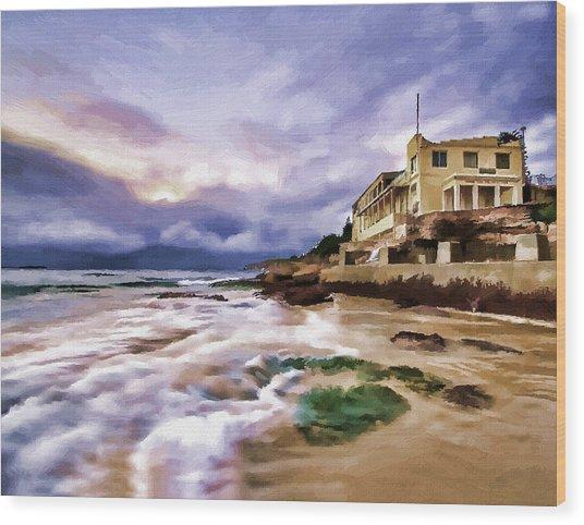 Coogee Beach Wood Print by Alex Zolotar