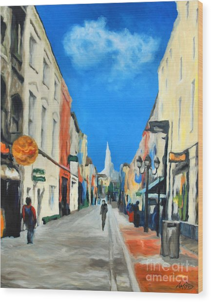 Cook Street   Cork Ireland Wood Print by Anne Marie ODriscoll