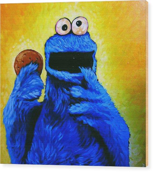 Cookie Monster Wood Print