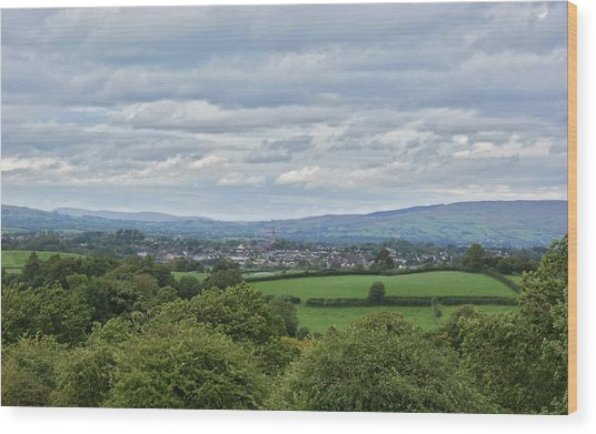 Cookstown Viewed From Tullyhogue Fort Wood Print