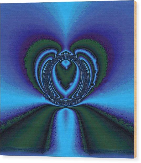 Cool Blue Wood Print