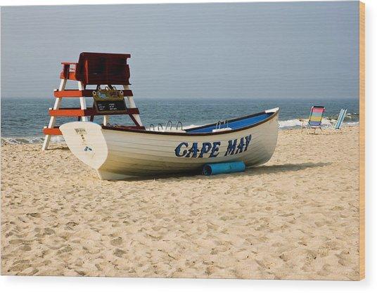 Cool Cape May Beach Wood Print