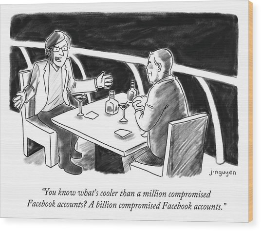 Cooler Than A Million Compromised Facebook Accounts Wood Print