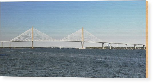 Cooper River Bridge Wood Print