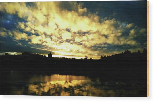 Wood Print featuring the photograph Coos Bay Dawn by Pacific Northwest Imagery