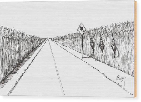 Coots Crossing Wood Print