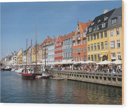 Copenhagen Harbor Wood Print by Mary Lane