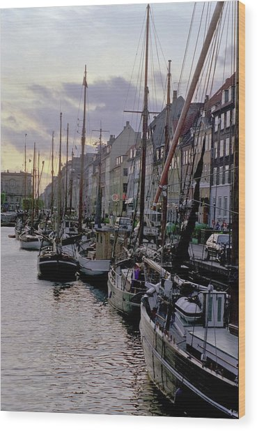 Copenhagen Quay Wood Print