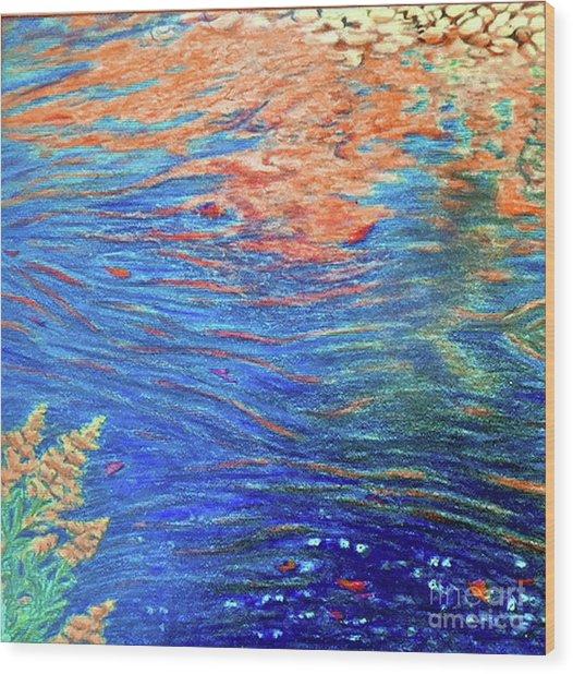 Copper Flow Wood Print