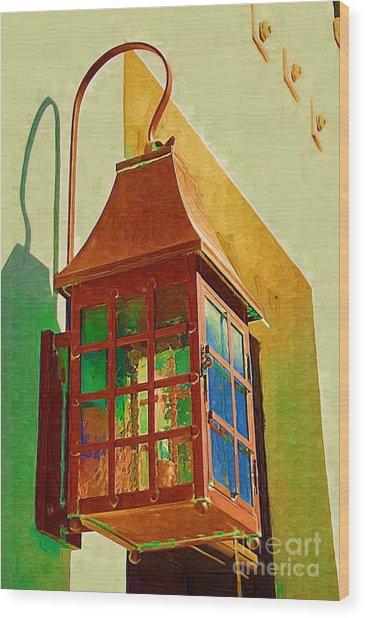 Copper Lantern Wood Print
