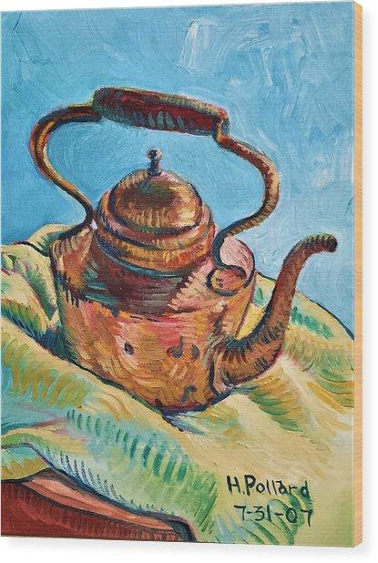 Copper Teapot Wood Print