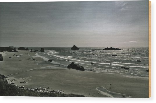 Coquille Point Iv Wood Print